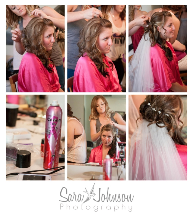 bride getting ready collage