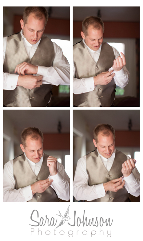 groom cufflinks collage