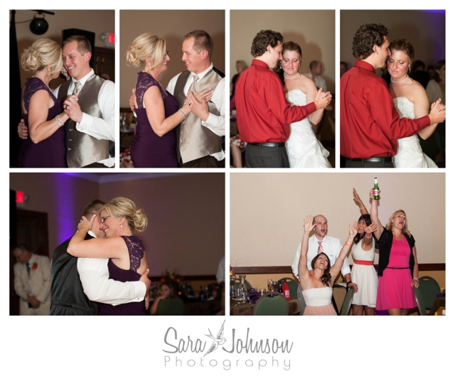 reception dances collage