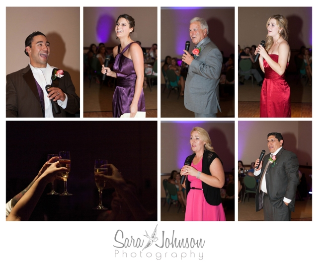 reception speeches collage